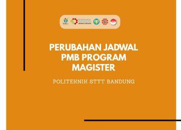 PERUBAHAN JADWAL PENERIMAAN MAHASISWA BARU PROGRAM MAGISTER TERAPAN REKAYASA TEKSTIL DAN APPAREL TA. 2020/2021 GELOMBANG II