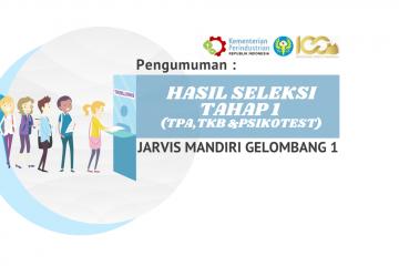 Pengumuman Hasil Seleksi Tahap 1 JARVIS Mandiri Gelombang I Tahap 1 TA. 2021/2022